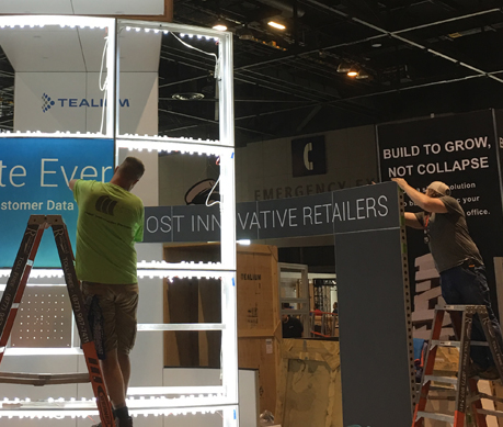Installation Labor for Trade Show Display